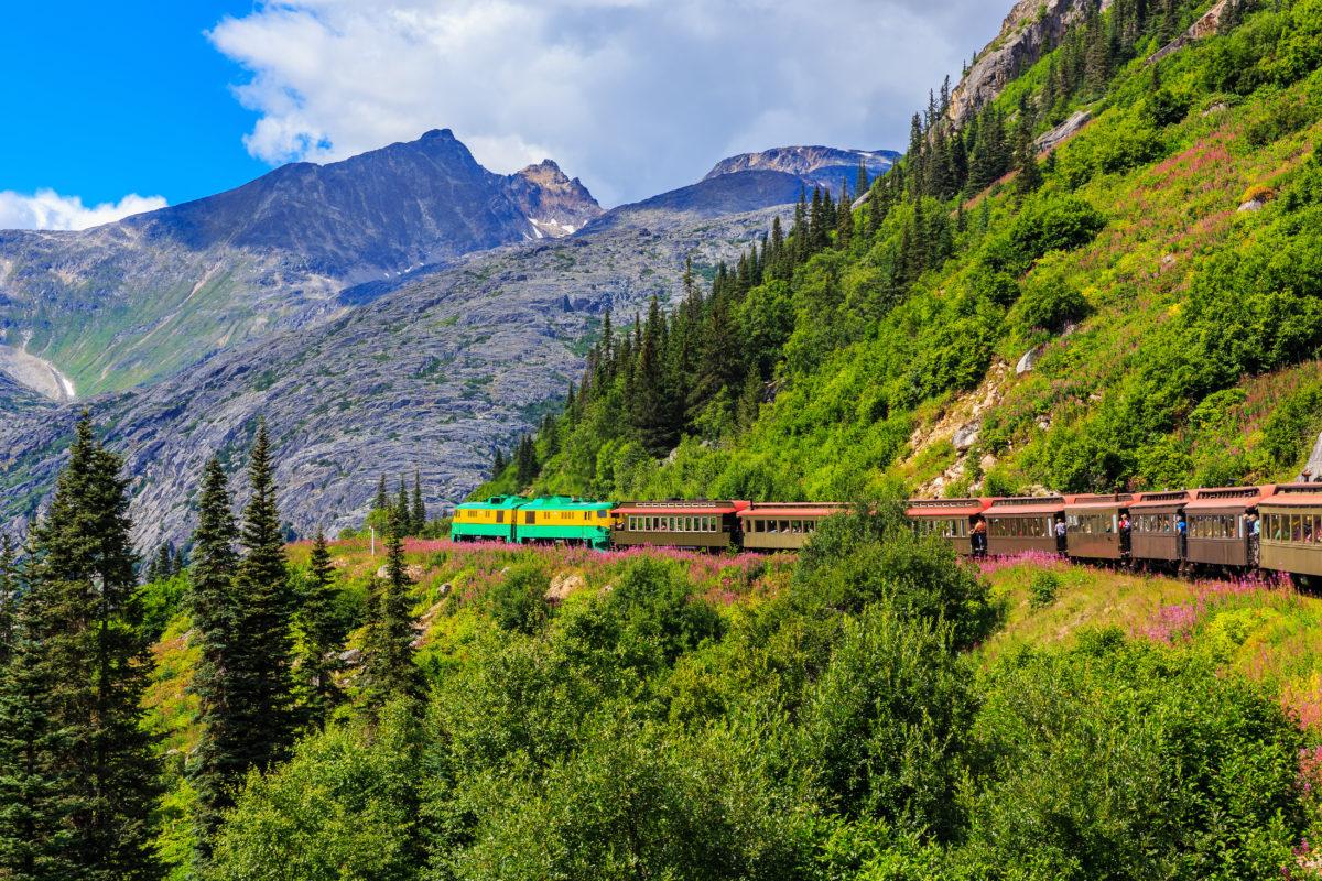 stunning beauty on the train in Skagway, Alaska