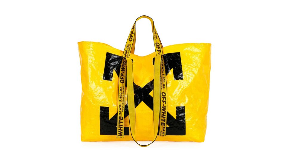 designer bags that look like paper or plastic bodega, grocery or retail shopping bags