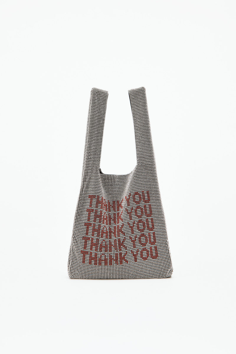 designer bags that look like bodega, grocery or retail shopping bags