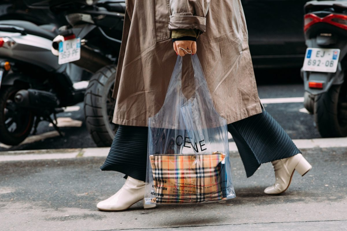 luxury bags that look like paper or plastic bodega, grocery or retail shopping bags