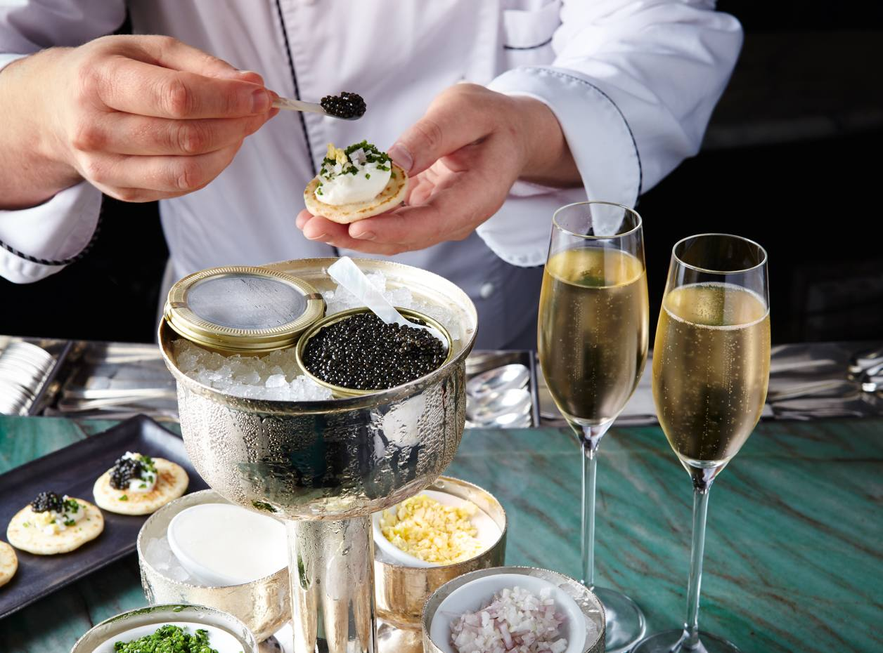 caviar, luxury party, holidays, January 2020