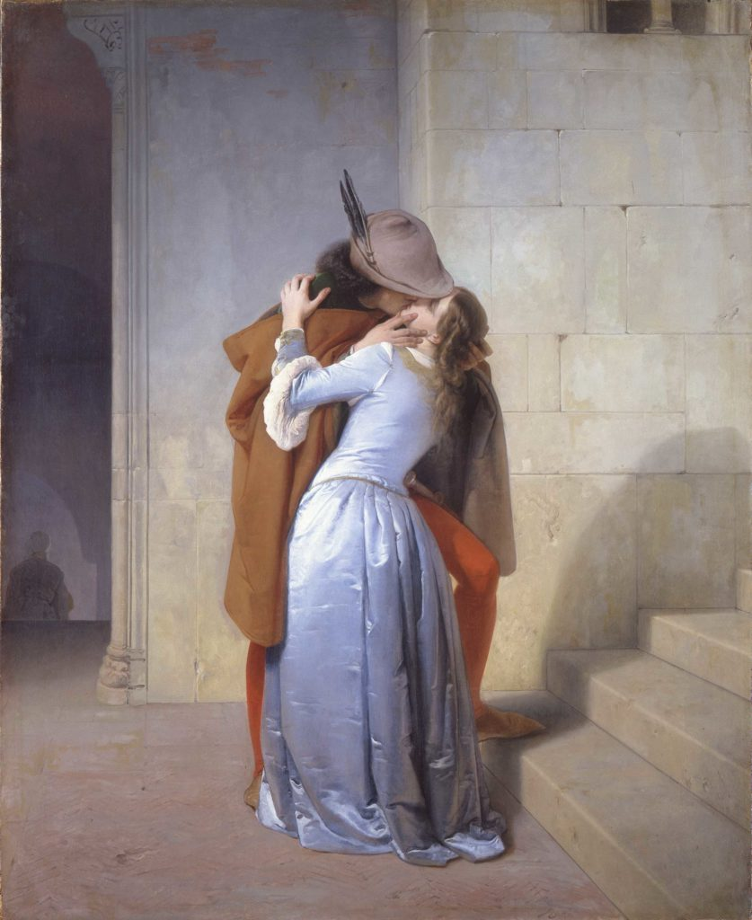 Famous portraits and works of art about love