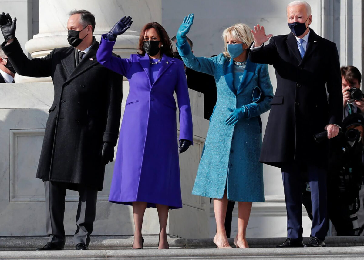 10 statement wool coats in the style of Inauguration 2021