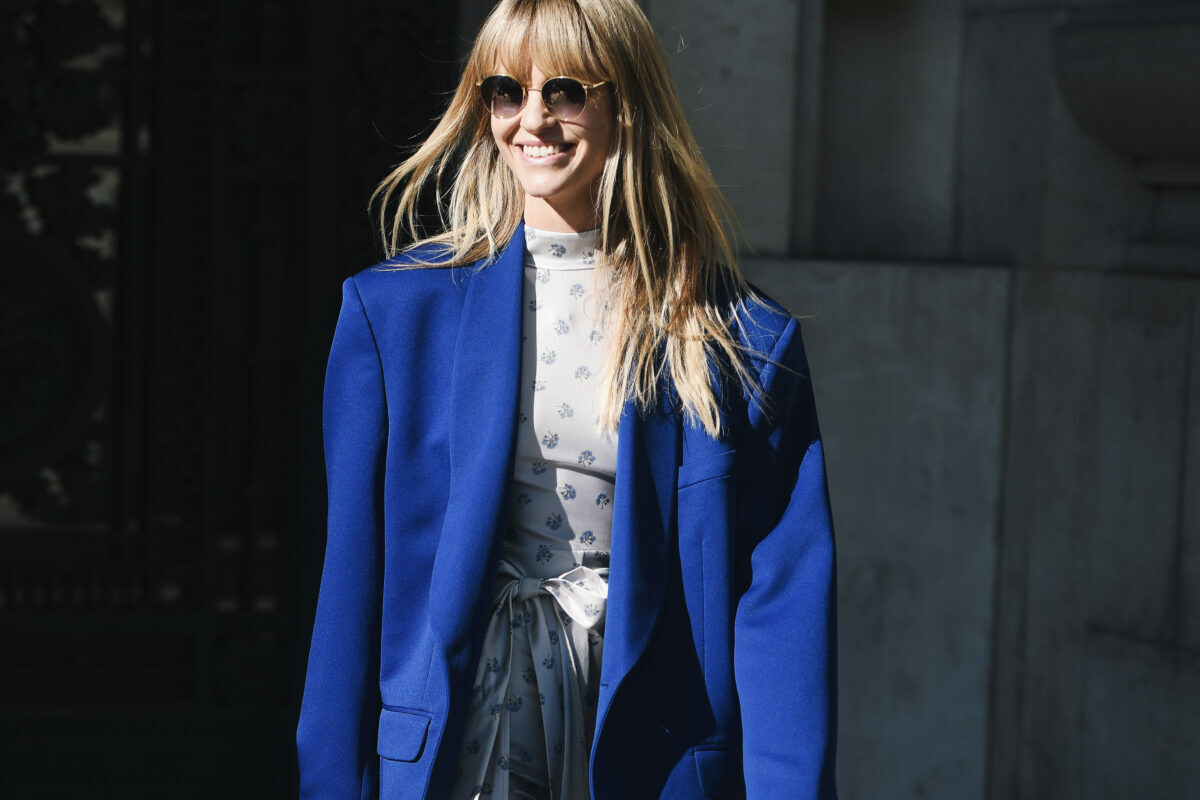The best looks for the blue luxury designer fashion trend for fall winter 2021.