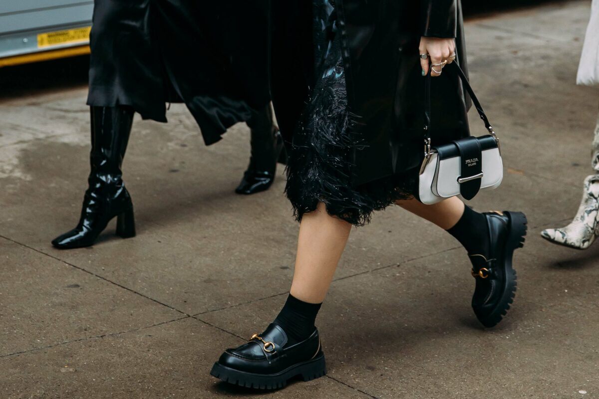 luxury designer loafers best for those wanting to channel the big shoe fashion trend for fall 2021, including pairs from Gucci and Prada